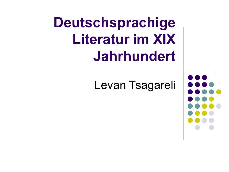 Deutschsprachige Literatur im XIX Jahrhundert