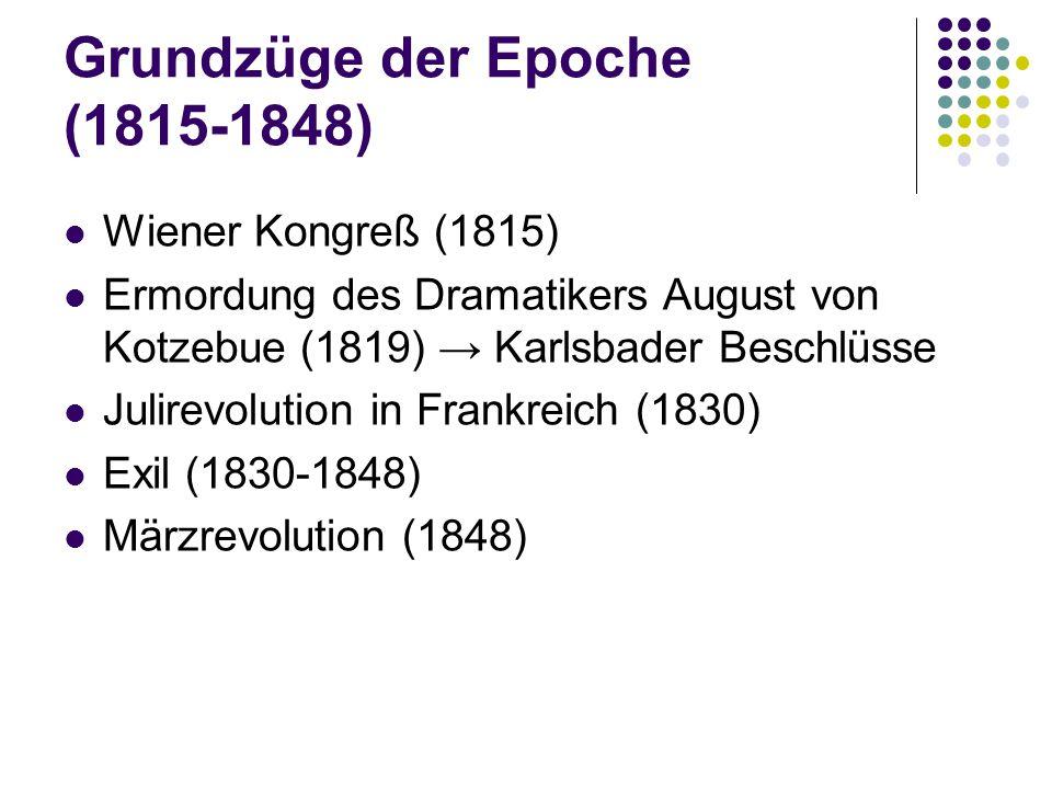 Grundzüge der Epoche (1815-1848)