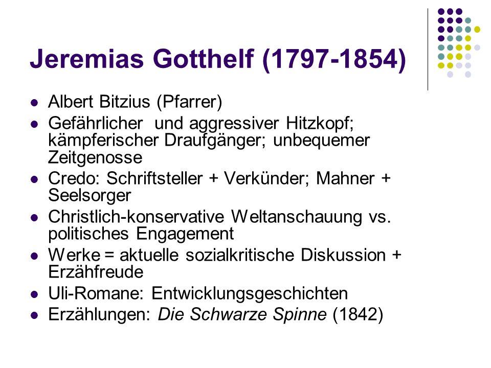 Jeremias Gotthelf (1797-1854) Albert Bitzius (Pfarrer)