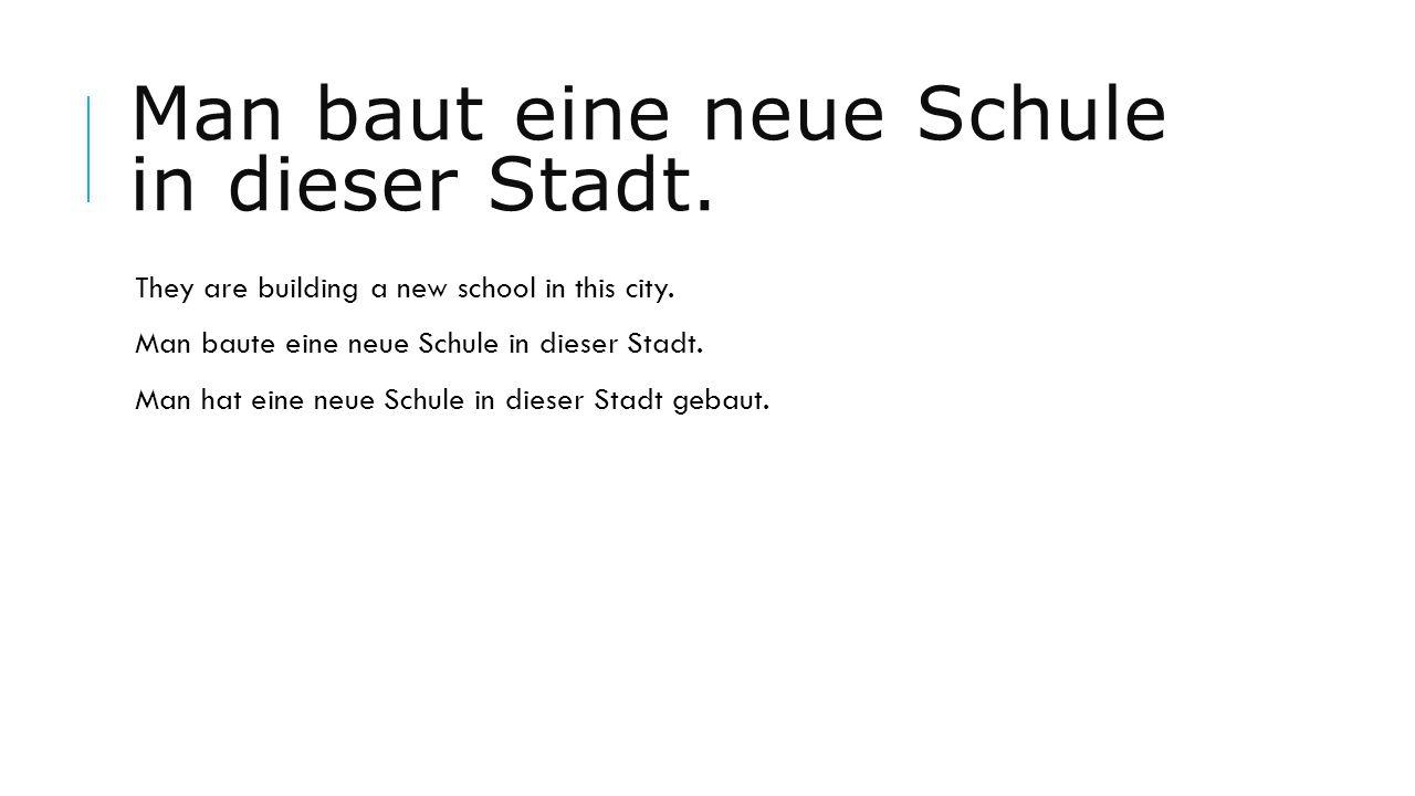 Man baut eine neue Schule in dieser Stadt.