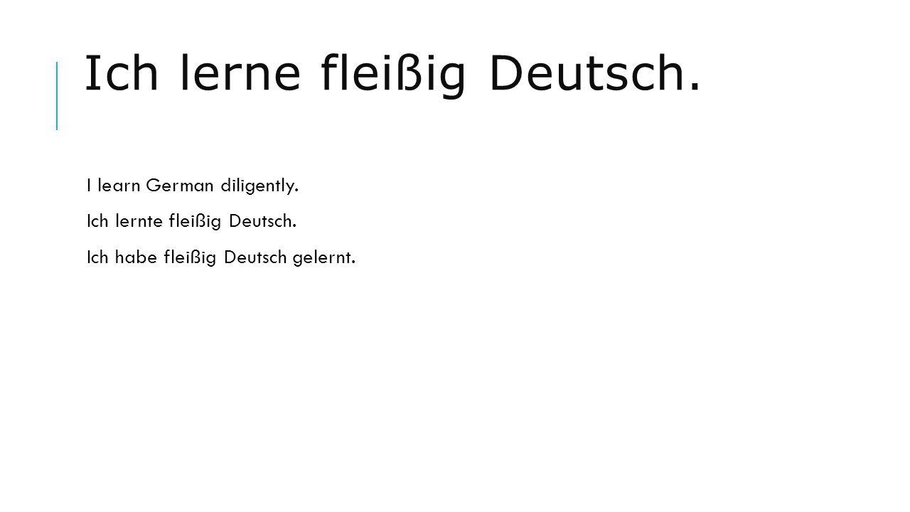 Ich lerne fleißig Deutsch.
