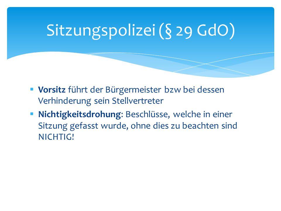 Sitzungspolizei (§ 29 GdO)