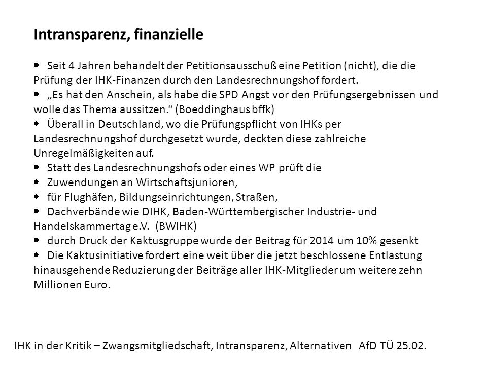 Intransparenz, finanzielle