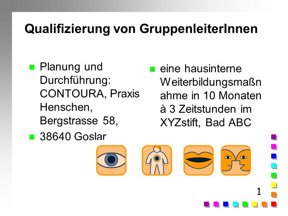Qualifizierung von GruppenleiterInnen