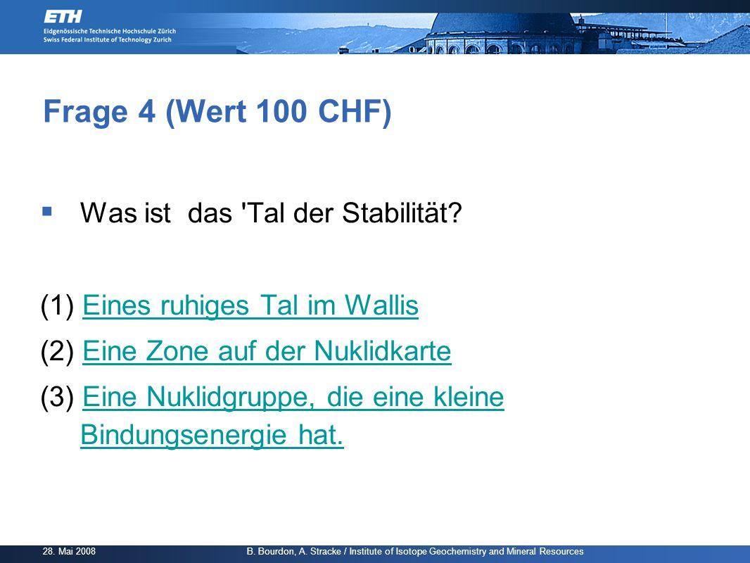 Frage 4 (Wert 100 CHF) Was ist das Tal der Stabilität