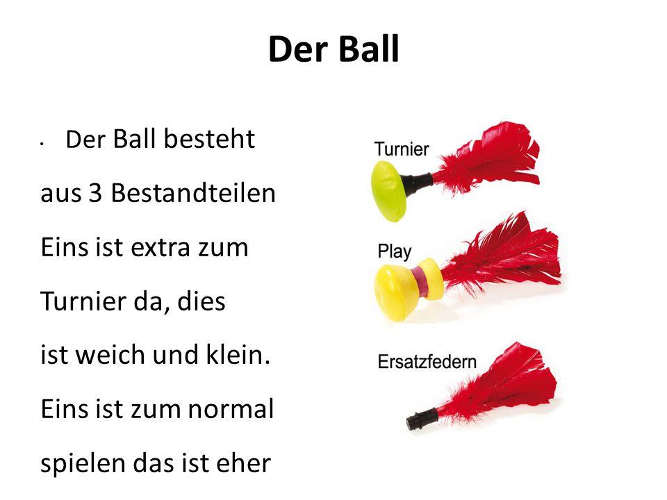 Der Ball aus 3 Bestandteilen. Eins ist extra zum Turnier da, dies
