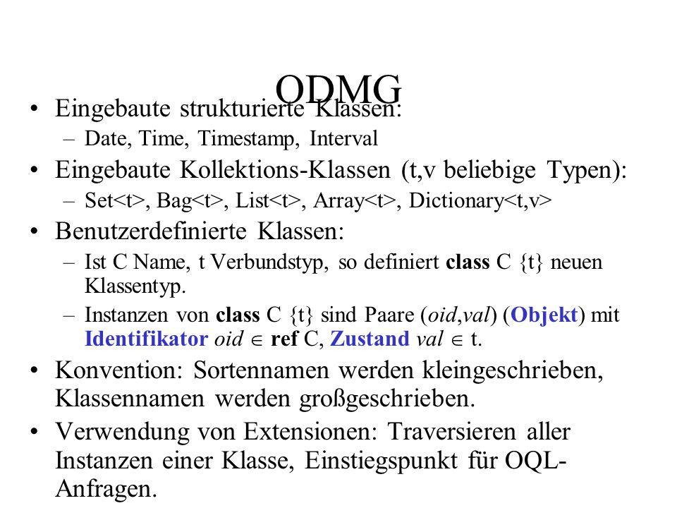 ODMG Eingebaute strukturierte Klassen: