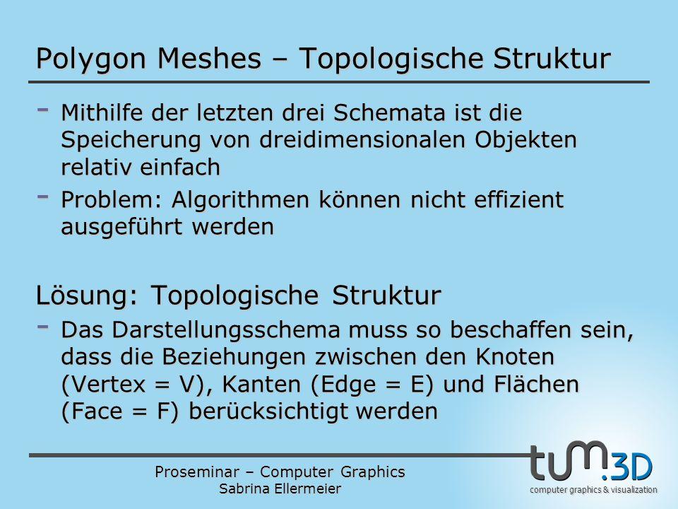 Polygon Meshes – Topologische Struktur
