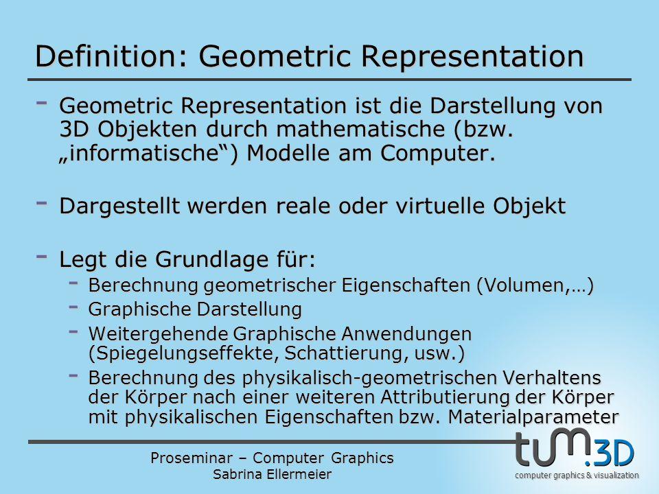 Definition: Geometric Representation