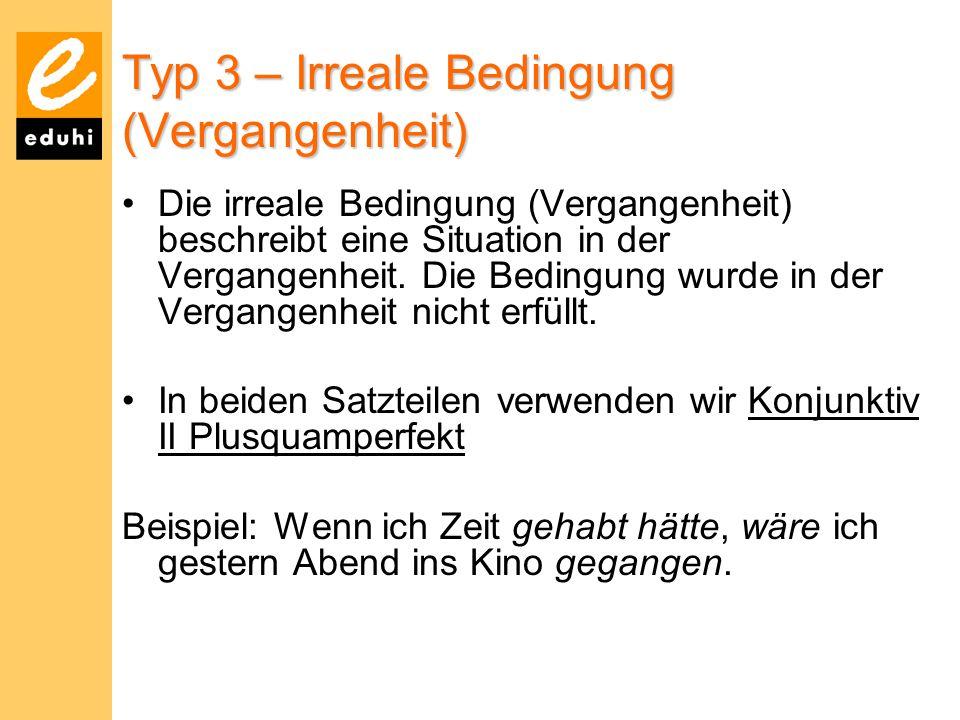 Typ 3 – Irreale Bedingung (Vergangenheit)