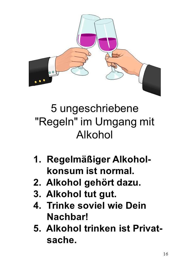 5 ungeschriebene Regeln im Umgang mit Alkohol