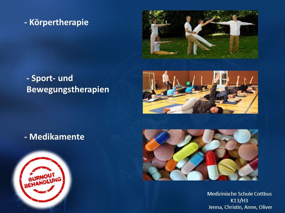 - Sport- und Bewegungstherapien