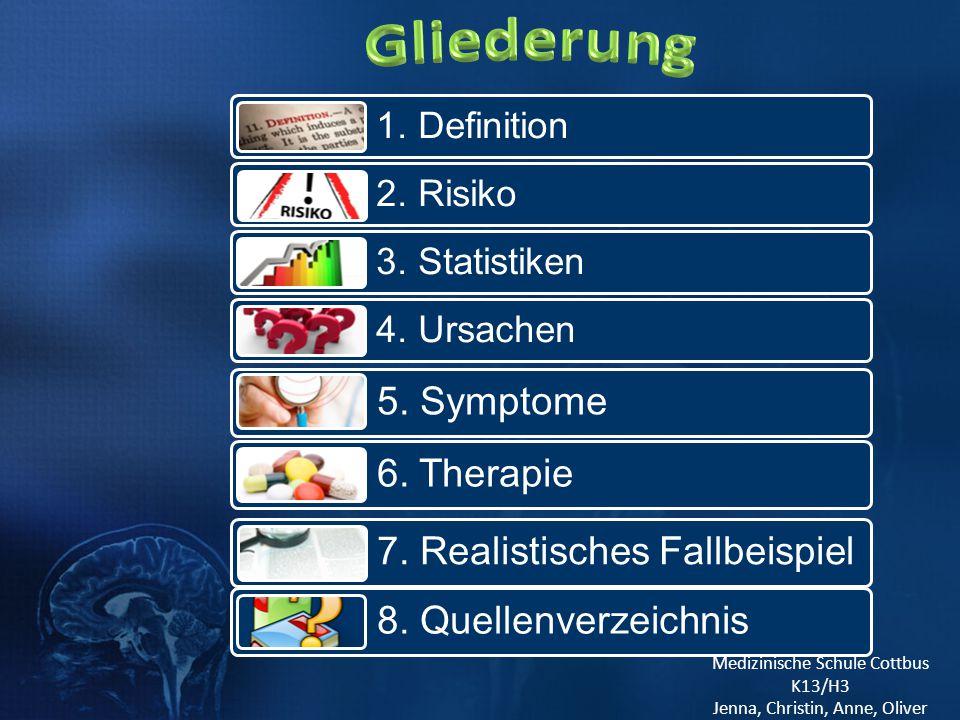 Gliederung 5. Symptome 6. Therapie 7. Realistisches Fallbeispiel