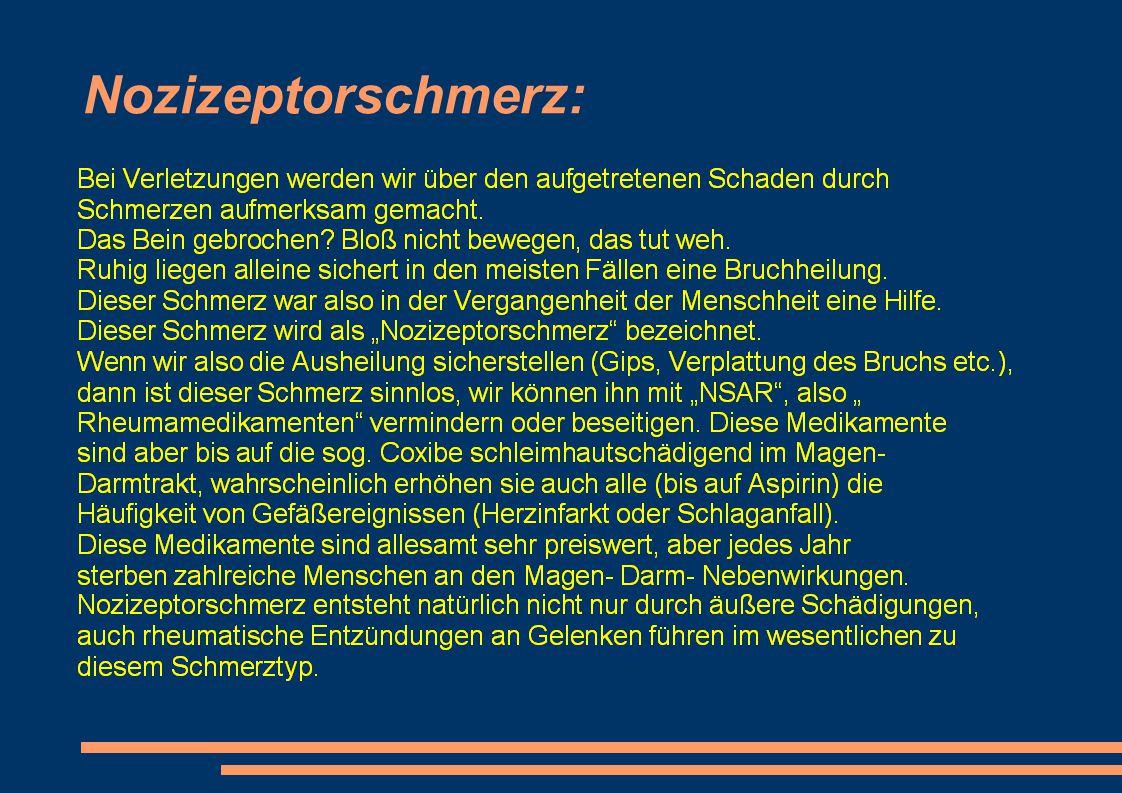 Nozizeptorschmerz: