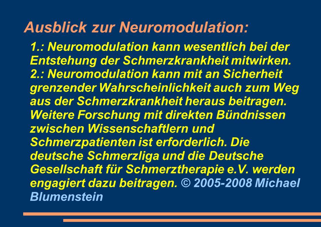 Ausblick zur Neuromodulation: