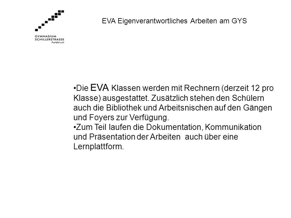 EVA Eigenverantwortliches Arbeiten am GYS
