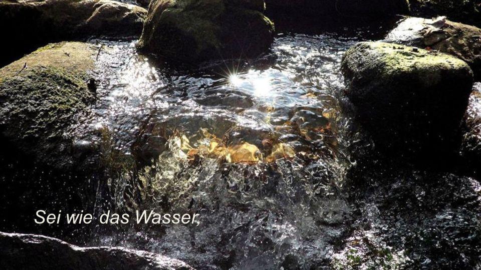 Sei wie das Wasser,