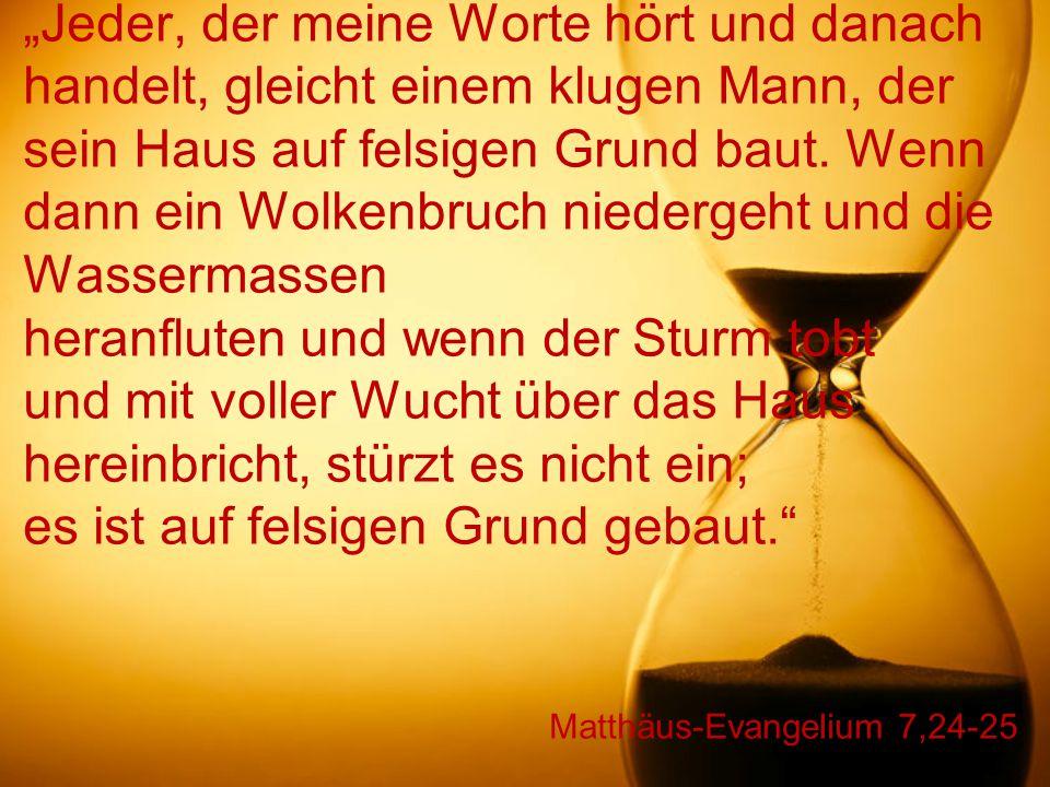 Matthäus-Evangelium 7,24-25
