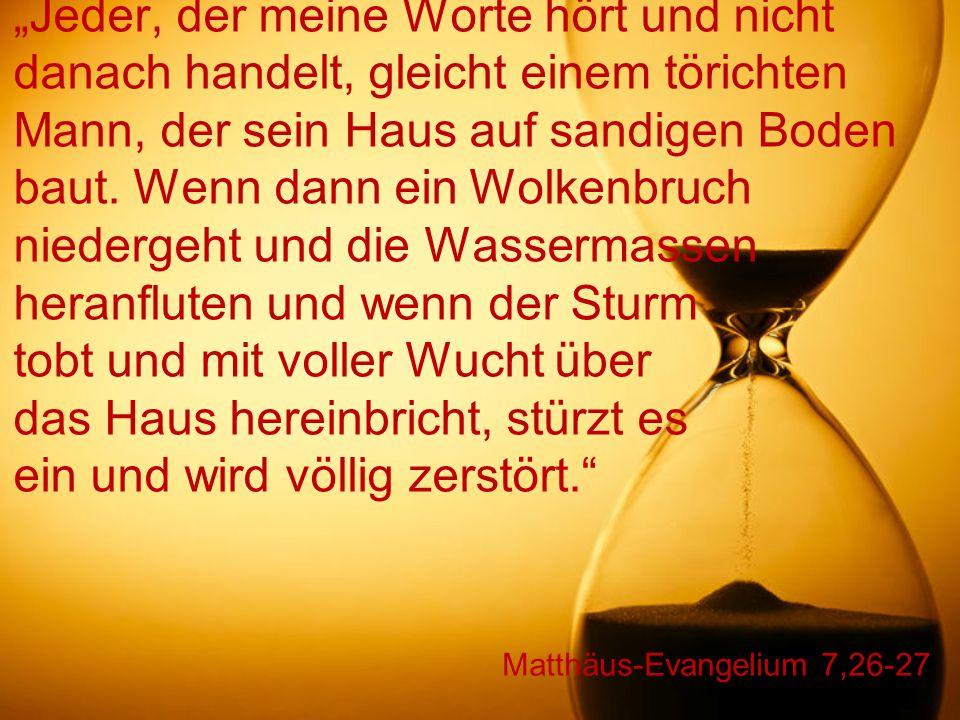 Matthäus-Evangelium 7,26-27