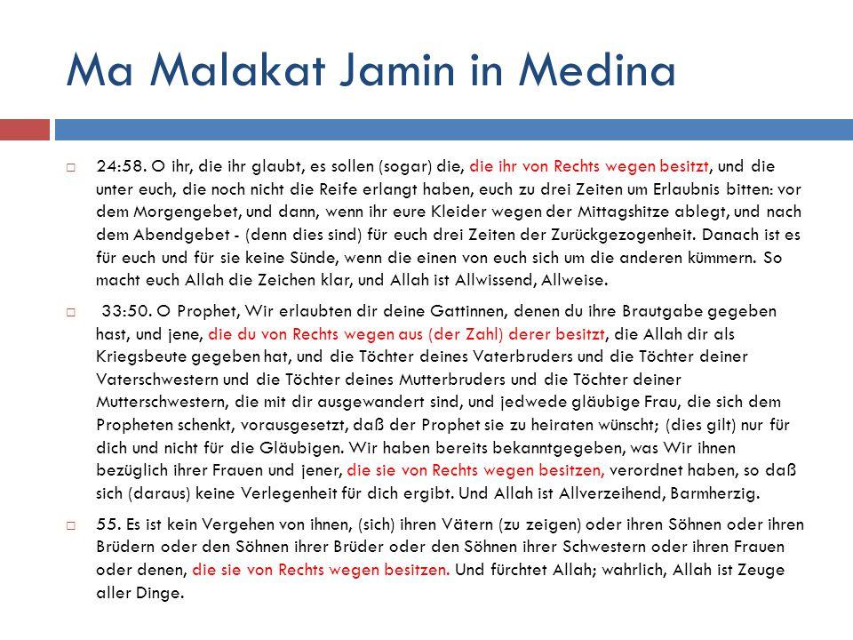 Ma Malakat Jamin in Medina