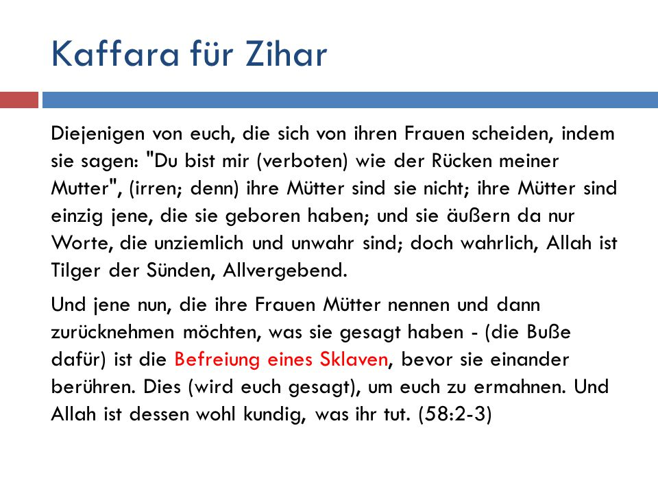 Kaffara für Zihar