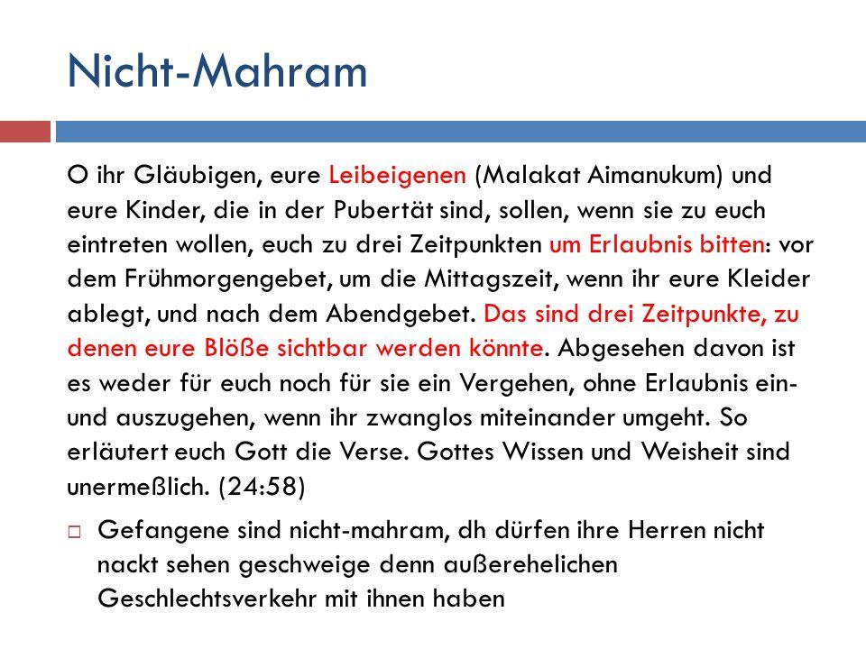 Nicht-Mahram