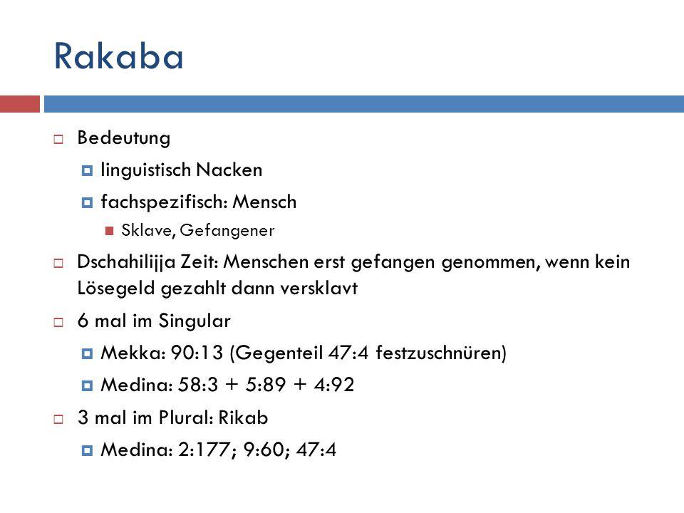 Rakaba Bedeutung linguistisch Nacken fachspezifisch: Mensch