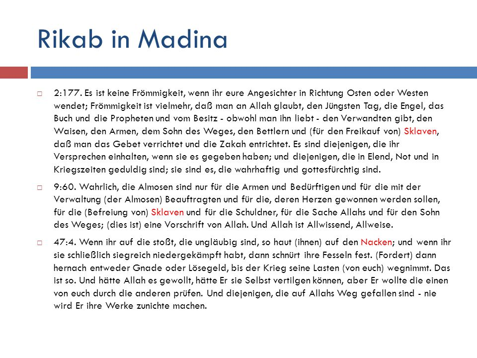 Rikab in Madina