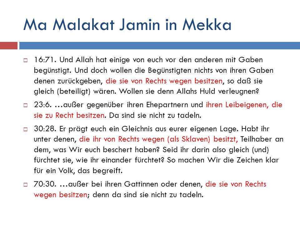 Ma Malakat Jamin in Mekka