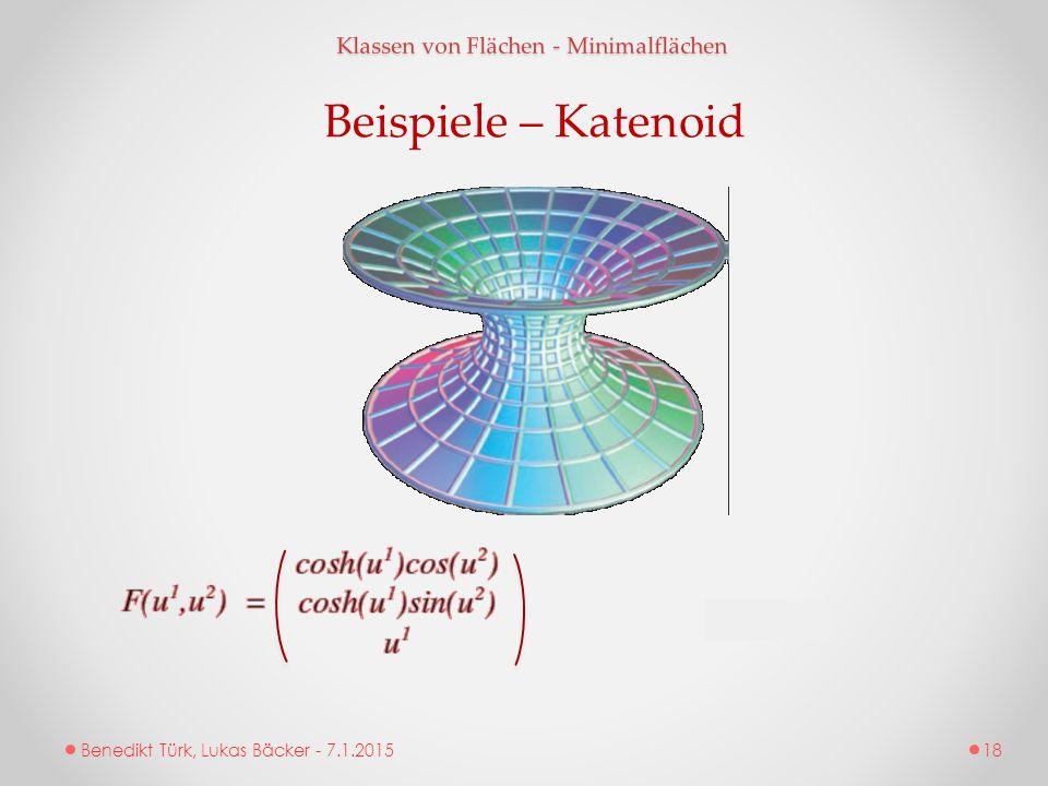 Beispiele – Katenoid Klassen von Flächen - Minimalflächen