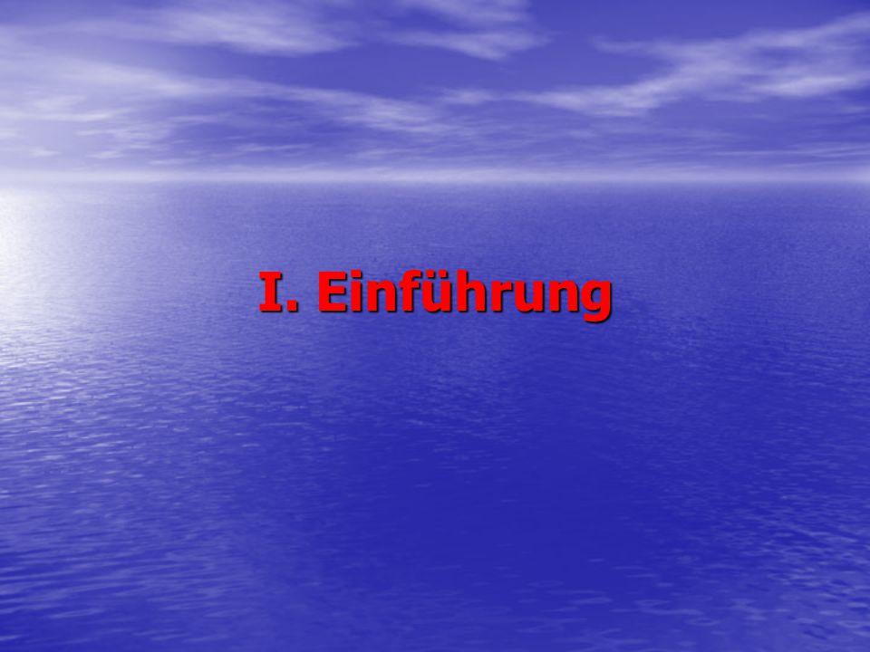 I. Einführung