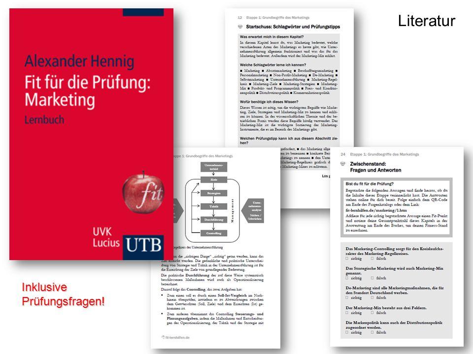 Literatur Inklusive Prüfungsfragen!