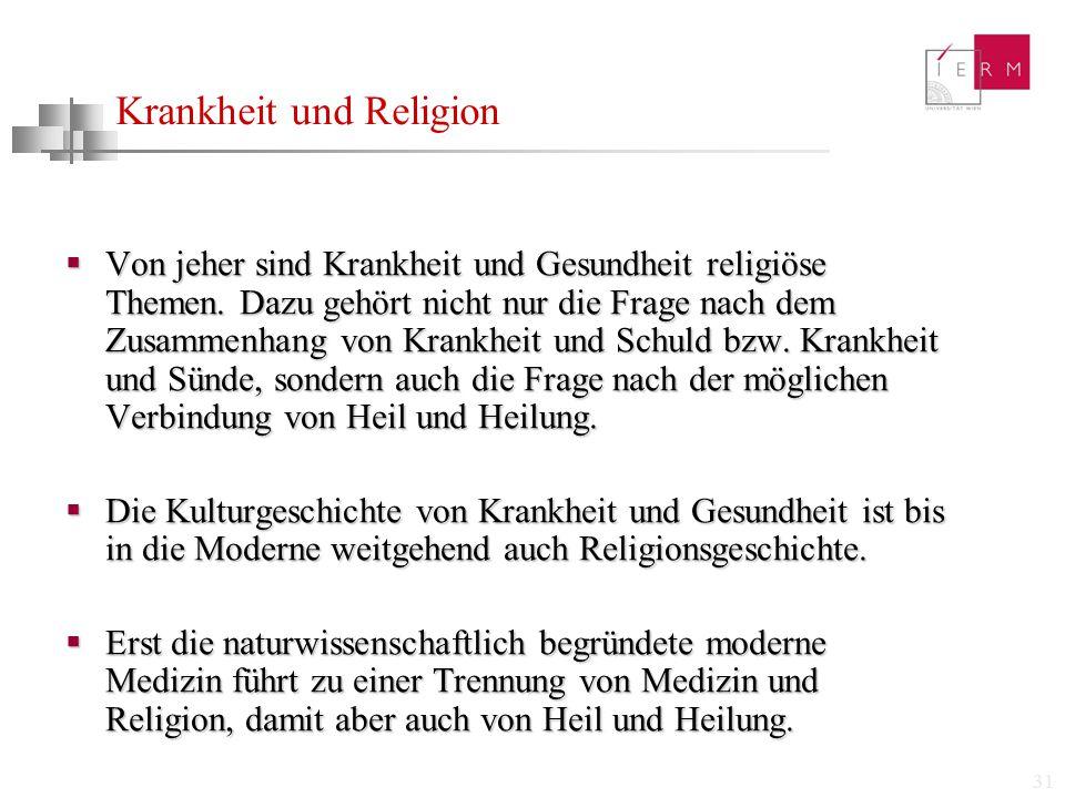 Krankheit und Religion