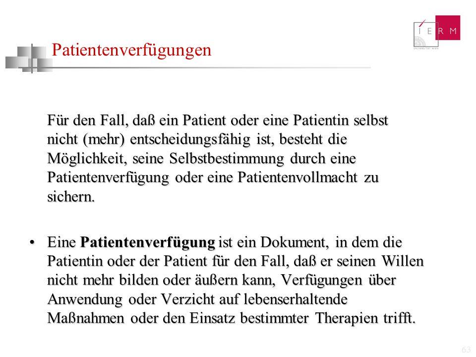 Patientenverfügungen