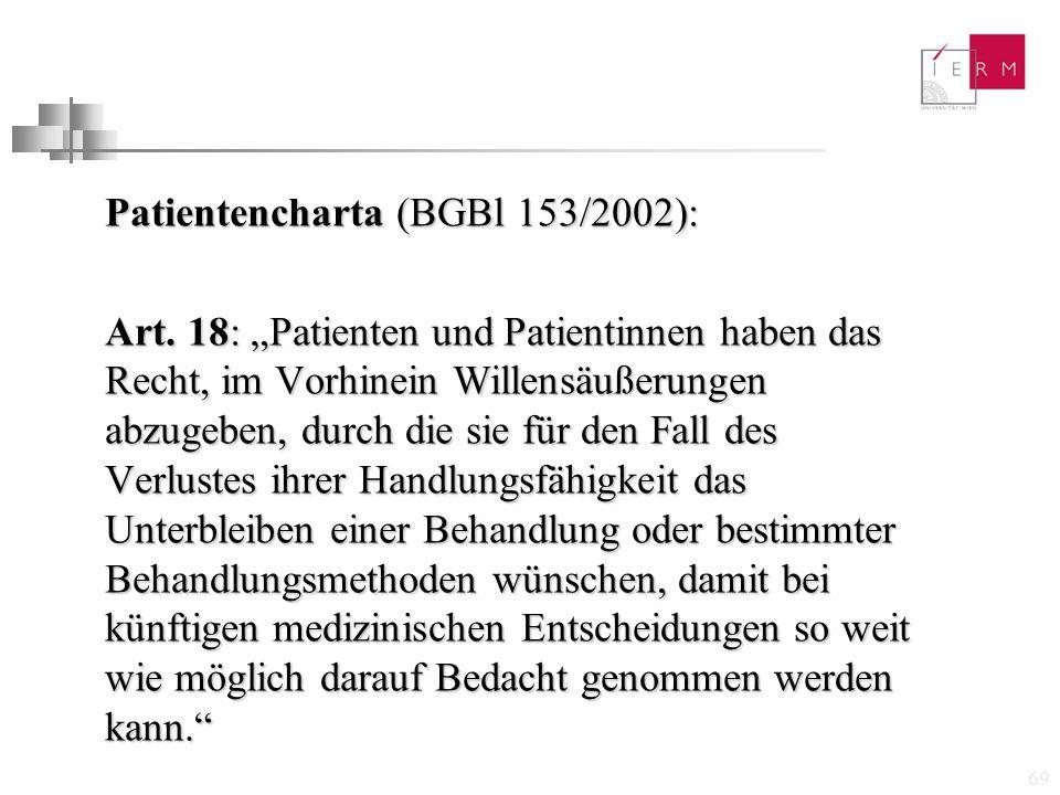 Patientencharta (BGBl 153/2002):