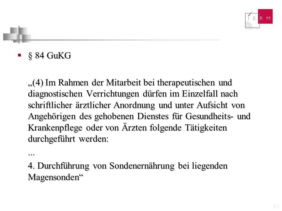 § 84 GuKG