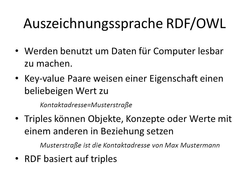 Auszeichnungssprache RDF/OWL