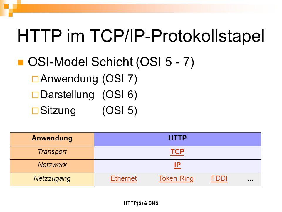 HTTP im TCP/IP-Protokollstapel