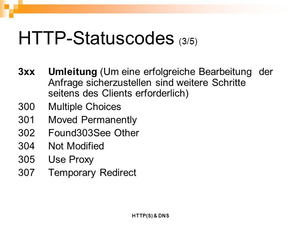 HTTP-Statuscodes (3/5)