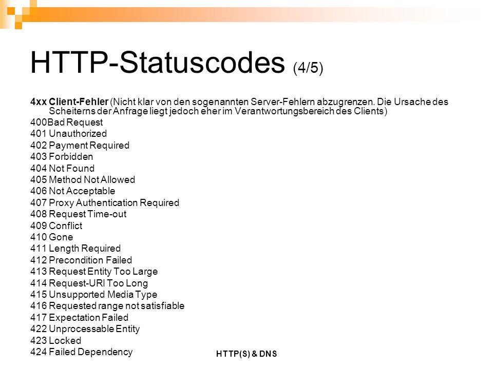 HTTP-Statuscodes (4/5)
