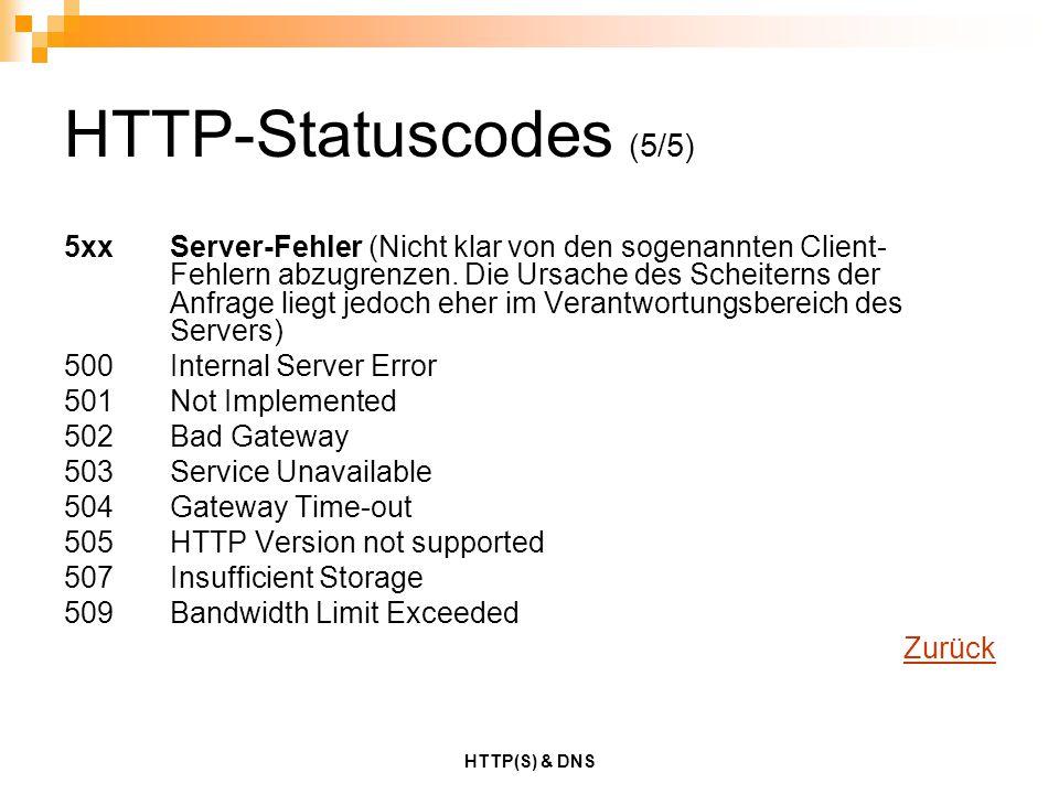 HTTP-Statuscodes (5/5)