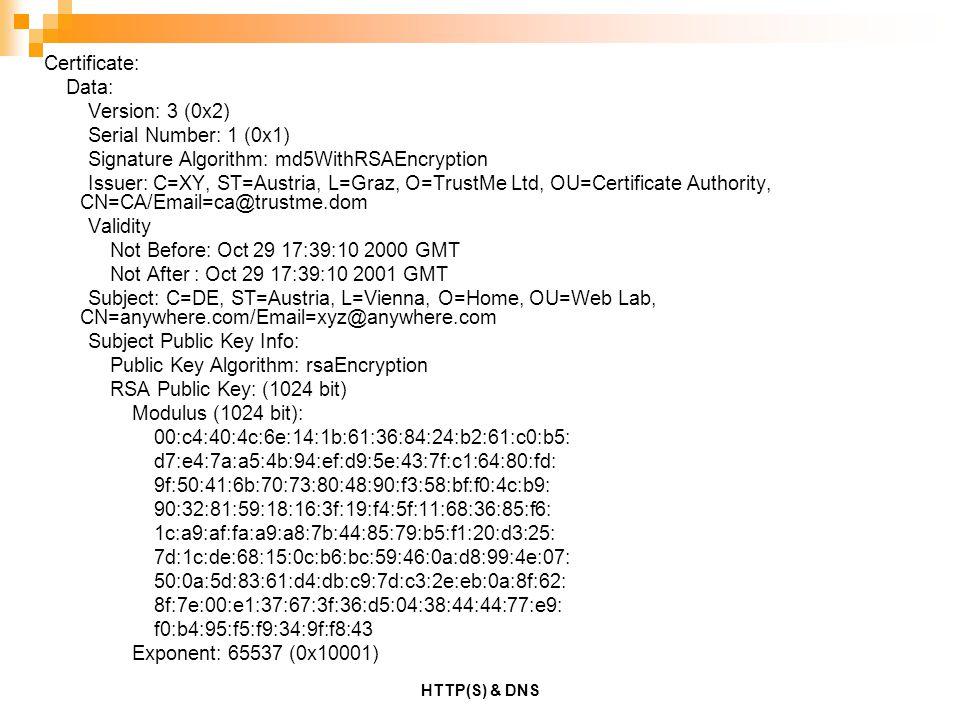 Signature Algorithm: md5WithRSAEncryption