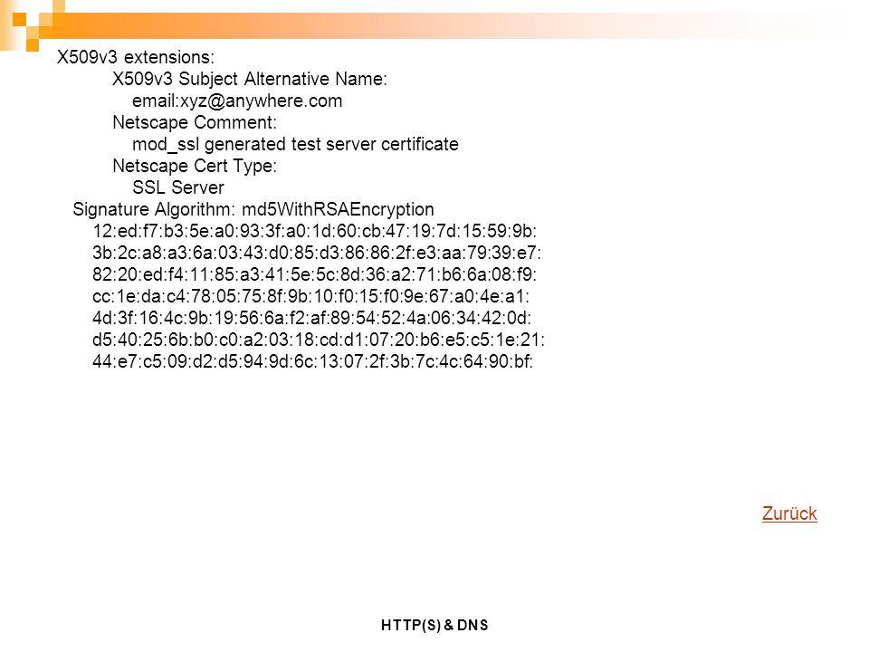 X509v3 Subject Alternative Name: