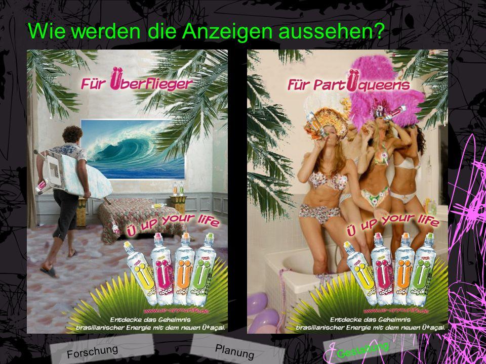 Wie werden die Anzeigen aussehen