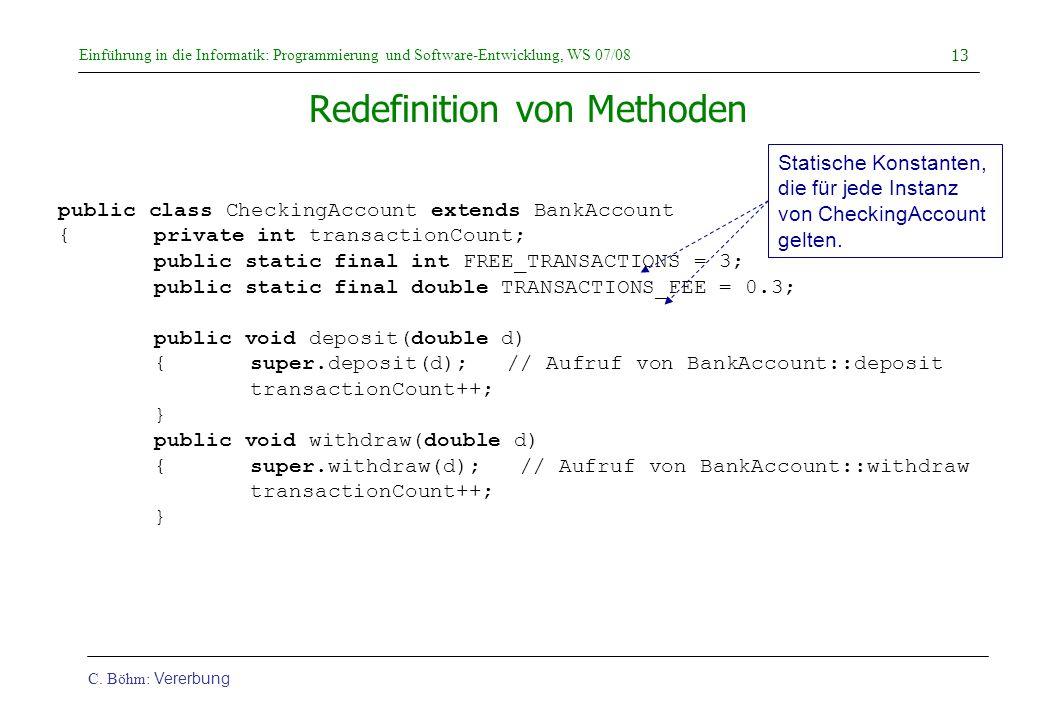 Redefinition von Methoden