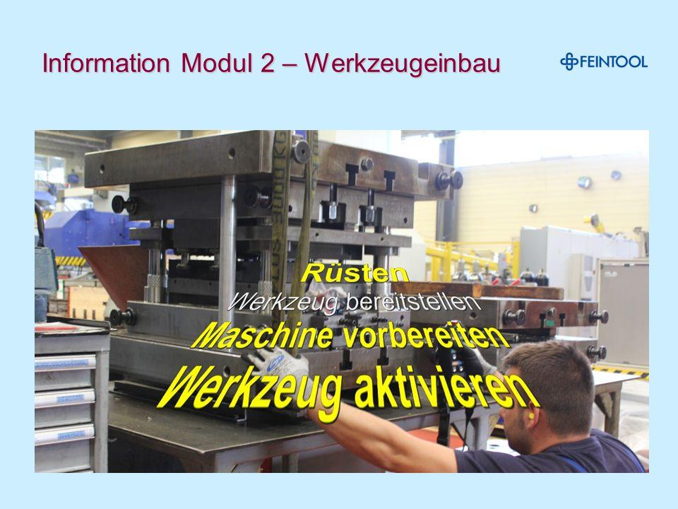 Information Modul 2 – Werkzeugeinbau