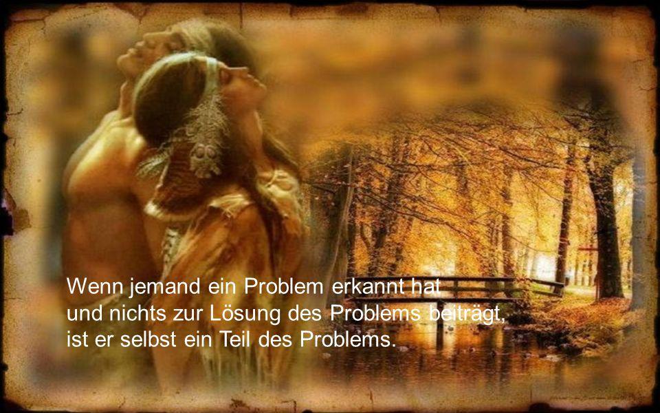 Wenn jemand ein Problem erkannt hat und nichts zur Lösung des Problems beiträgt, ist er selbst ein Teil des Problems.