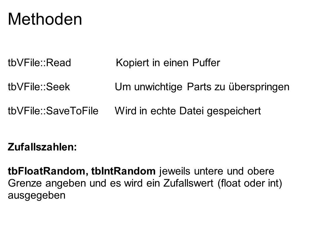 Methoden tbVFile::Read Kopiert in einen Puffer