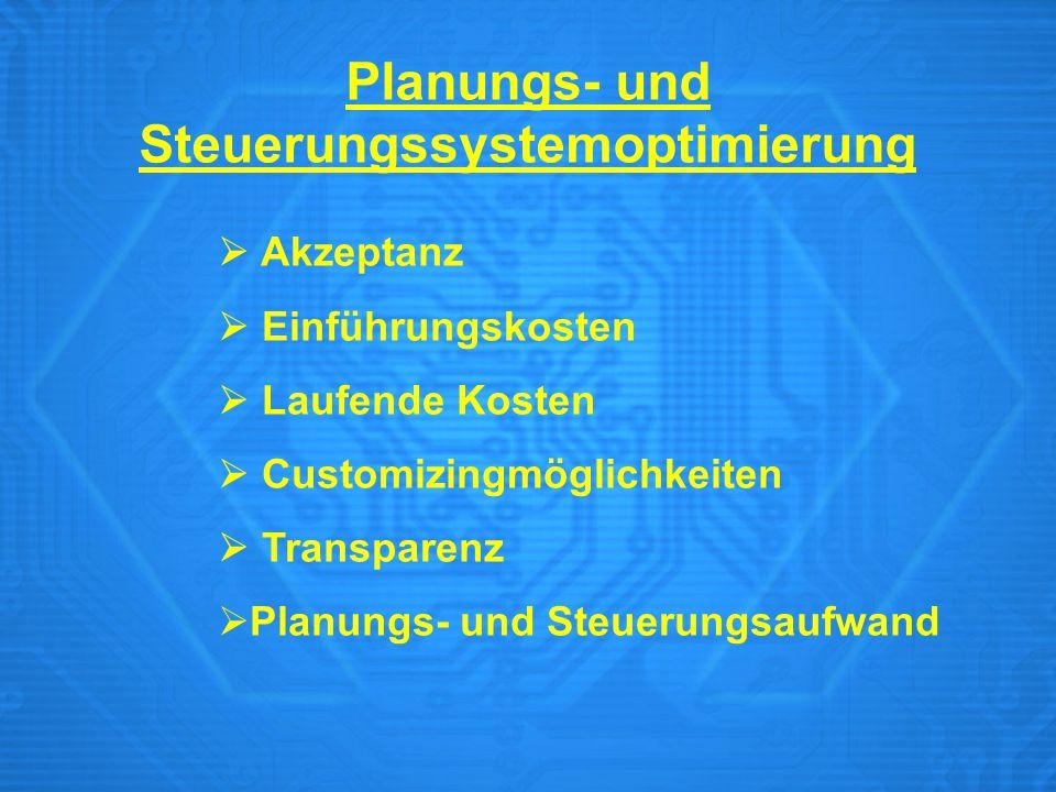 Planungs- und Steuerungssystemoptimierung