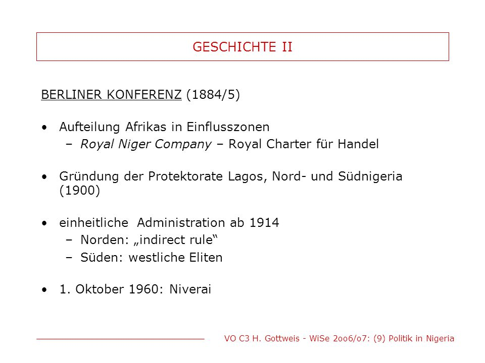 GESCHICHTE II BERLINER KONFERENZ (1884/5)